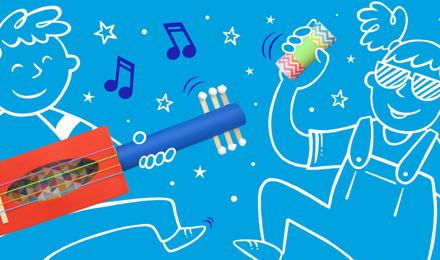 Zelf muziekinstrumenten maken voor kinderen