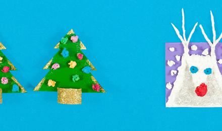 Zelf kerstkaarten maken: knutselen met oude verpakkingen